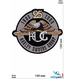 Harley Davidson Harley Davidson - 25 Years  - Harley Owners Group - 13cm