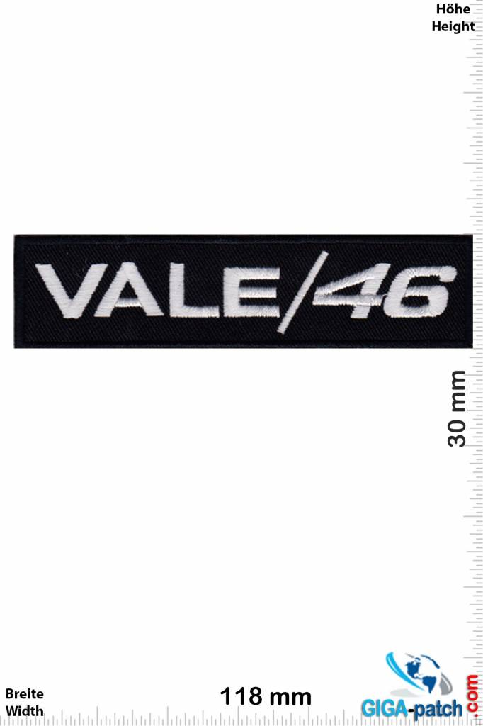 efe0db92981f4 The Doctor Vale   46 - the Doctor -Valentino Rossi - Aufnäher Shop ...