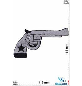 Pistole Revolver - silber - Gun