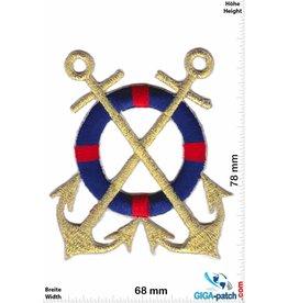 Marine 2 Anchor-Navy - gold