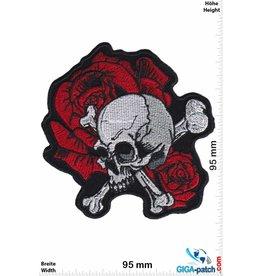 Totenkopf Skull Rose - Oldschool