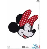 Mickey Mouse  Mickey Mouse - Mini Mouse - Kopf  - Softpatch - 23 cm