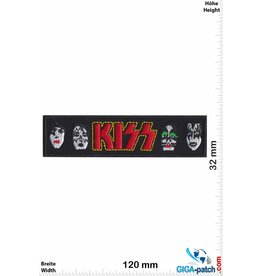 Kiss KISS - 4 Face - long - black