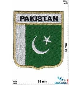 Pakistan  Pakistan - Wappen  - Flagge - gold