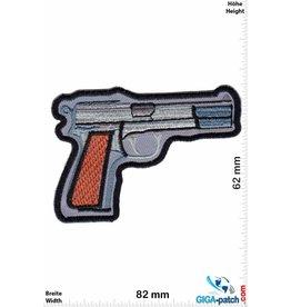 Pistole Gun -  silver - Pistol - Colt - Walter