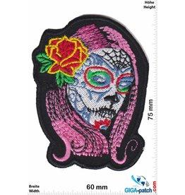 Muerto Skull - Totenkopf - Muerto- Frau - pink