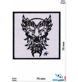 Free Masonry Devil - black white