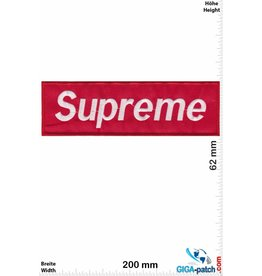 Supreme Supreme rot / weiss - Softpatch - 20cm