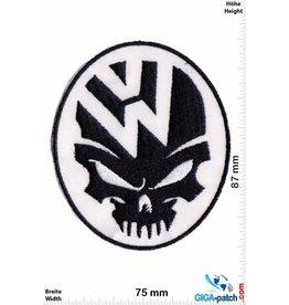 VW,Volkswagen VW - Volkswagen - Totenkopf - schwarz weiss