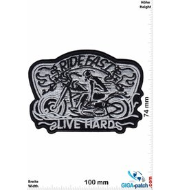 Biker Ride Fast - Live Hard - Cafe Racer