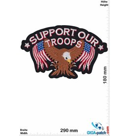 Biker Support our Troops - Eagle USA -  29 cm - BIG