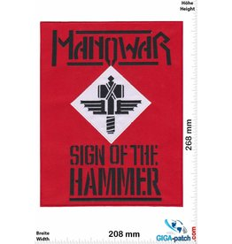 Manowar Manowar  - Sign of the Hammer  - 26 cm - BIG
