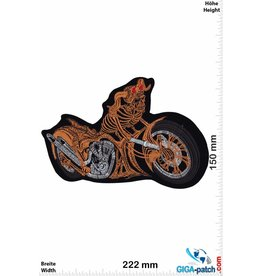 Biker Skull Chopper - VPower - 22 cm - BIG