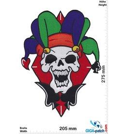 Bikerpatch Totenkopf Joker  - Skull - 27 cm