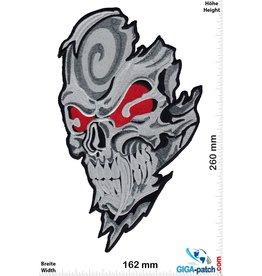 Bikerpatch Totenkopf - Vampir  - Skull - 26 cm