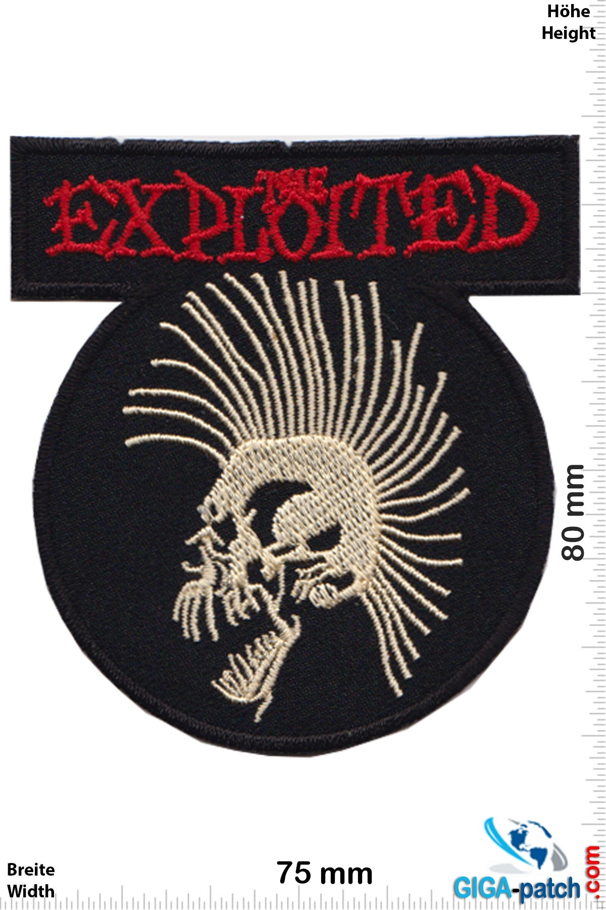 The Exploited Embroidered PATCH//BADGE