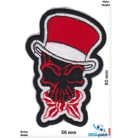 Totenkopf Skull red cylinder - Oldschool