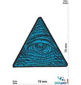 Auge der Vorsehung - Eye of Providence - blue