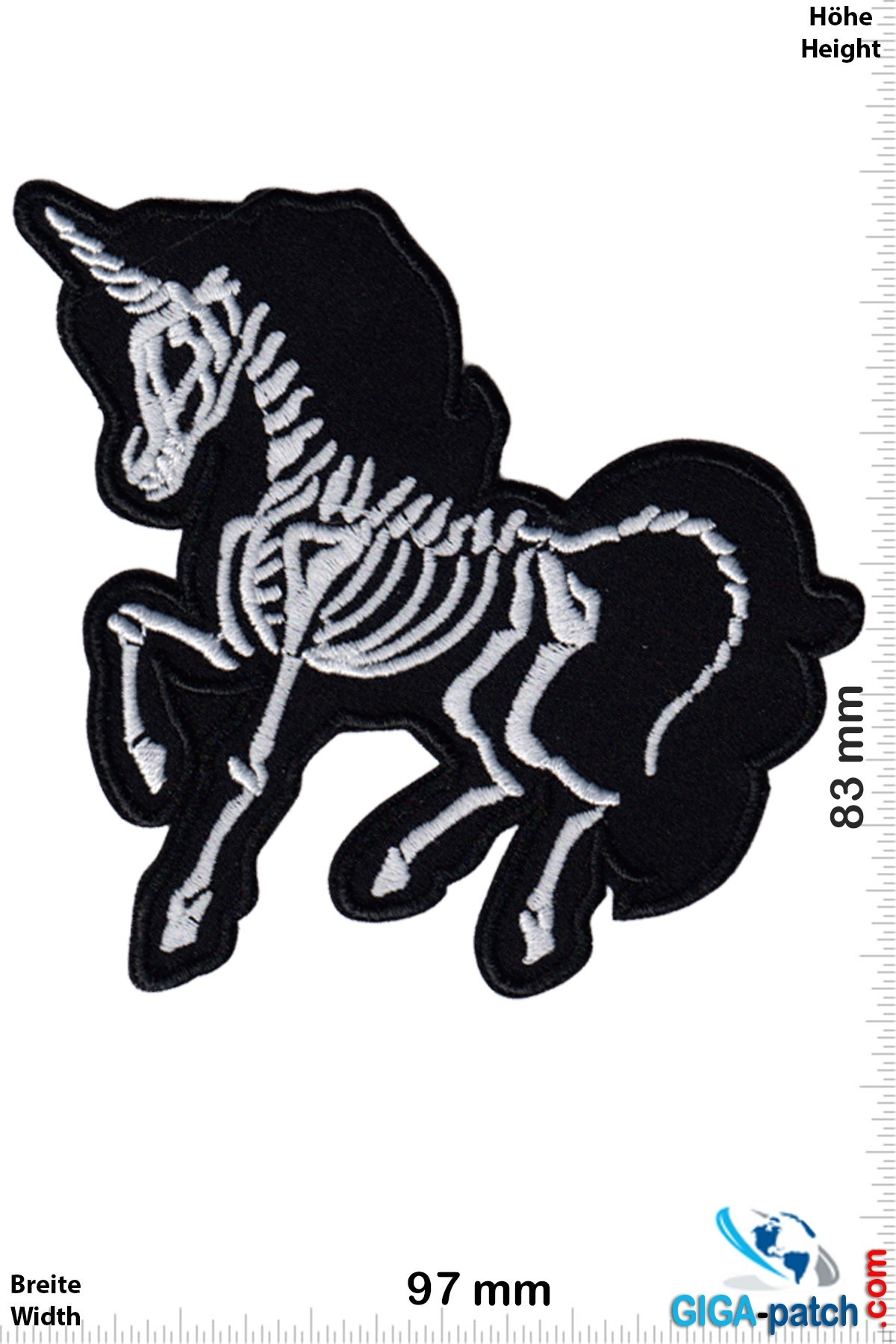 Skeleton Unicorn Horse