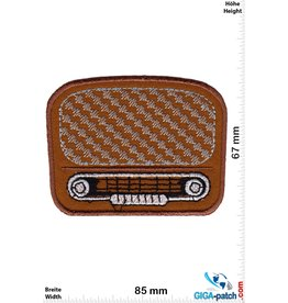 Oldschool Tube radio - brown