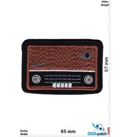Oldschool Röhrenradio - schwarz braun