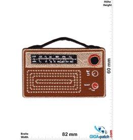 Oldschool Tragbares Kofferradio - braun