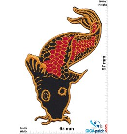 Fish / Fisch - schwarz rot gold - Koi