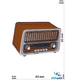 Oldschool Tube radio - brown - oblique