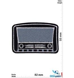 Oldschool Röhrenradio - schwarz silber