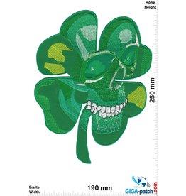 Irish Skull - Shamrock Skull - 25cm