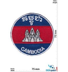 Cambodia Kambodscha - Cambodia - Flagge - round