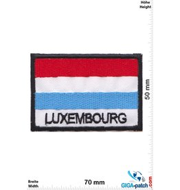 Luxembourg Luxemburg - Luxembourg  - Flagge - black
