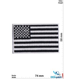USA USA Flag - United States of America - Black white