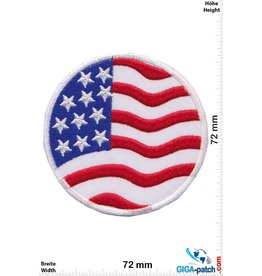 USA USA Flag - United States of America - round