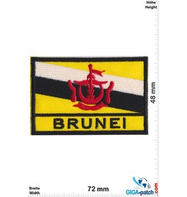 Brunei - Flag -black