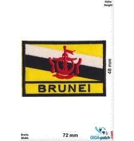 Brunei - Flag -black