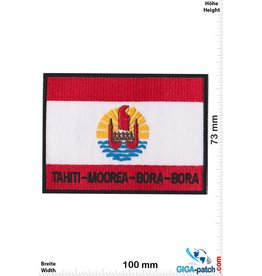 Tahiti Moorea Bora Bora - Flagge  -big