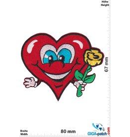 Love Herz mit Rose