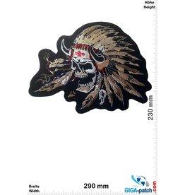 Totenkopf Skull Indian - Indian chief  - 25 cm - BIG