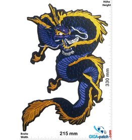 Drachen Dragon - blue gold  - 33 cm
