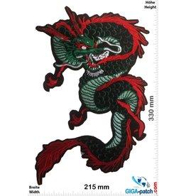Drachen Drachen - Dragon - grün rot  - 33 cm