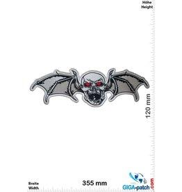 Totenkopf Skull - Bat - 35 cm