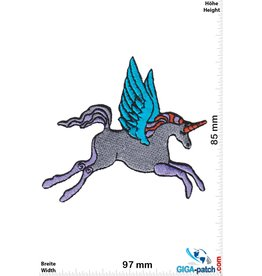 Unicorn Flying  Unicorn - gray