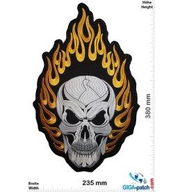 Totenkopf Skull - in Flame  - 38 cm