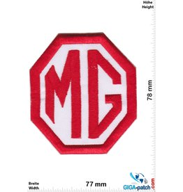 MG MG car - red white