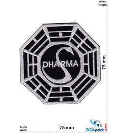 Lost Dharma Logo - LOST - black silver
