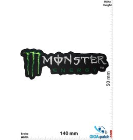 Monster Monster  Energy  - schwarz grün - long