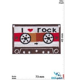 DJ Music Cassette -  Mix Tape - i love rock - brown