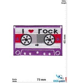 DJ Music Cassette -  Mix Tape - i love rock - lila