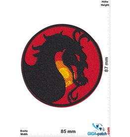 Drachen Dragon - round